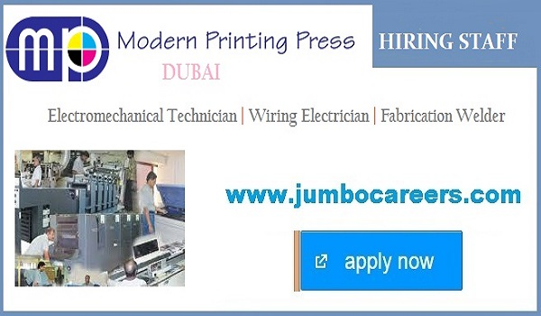 printing press jobs uae, printing jobs in dubai, offset printing job vacancy in dubai