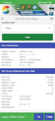 bayar online pajak motor dengan aplikasi sambara