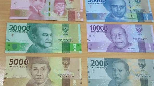 Tampilan Uang Baru (Rupiah) Negara Indonesia