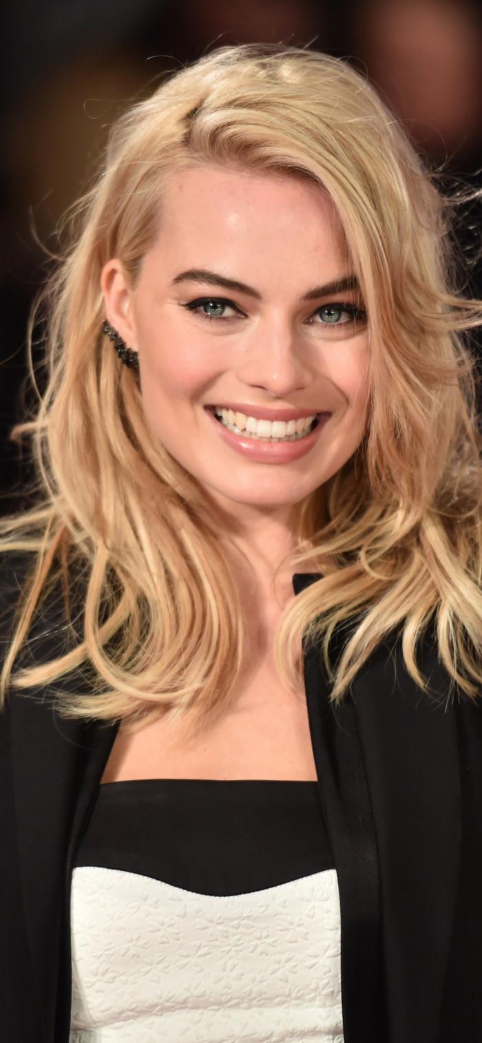 Cheerful Margot Robbie