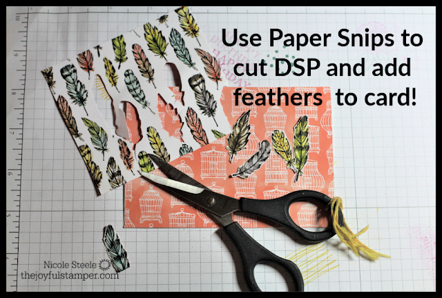 Use Paper Snips to cut DSP elements to add to card
