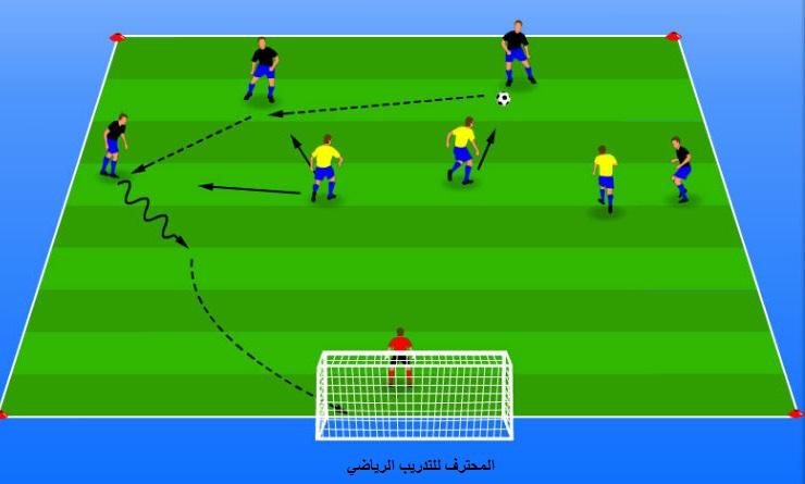 تمرين تكتيكي هجومي  3vs4  offensive tactical exercise