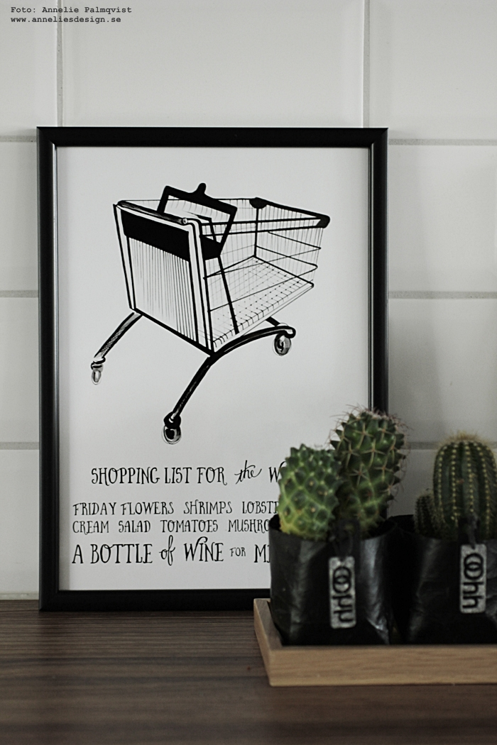 annelies design, tavla, tavlor, psoter, posters, Oohh kruka, krukor, konsttryck, posters, prints, kök, köket, kökstavla, tavlor till köket, kaktus, kaktusar,