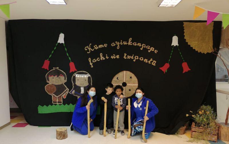 """Jardín infantil Pisatraiguen da la bienvenida al """"We Tripantu"""""""