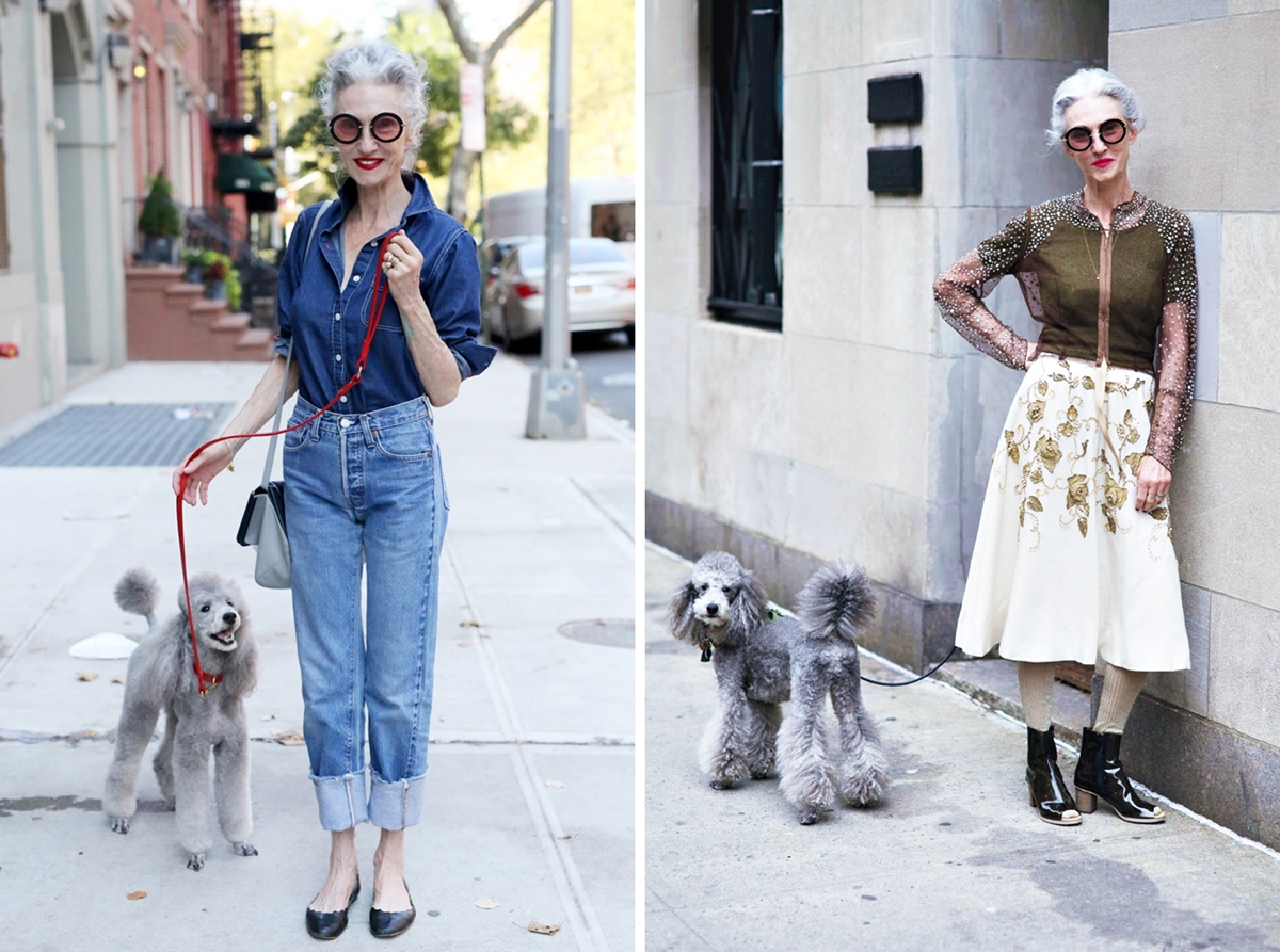 Alter, sehen die toll aus...! Linda Rodin and Winky in Chelsea