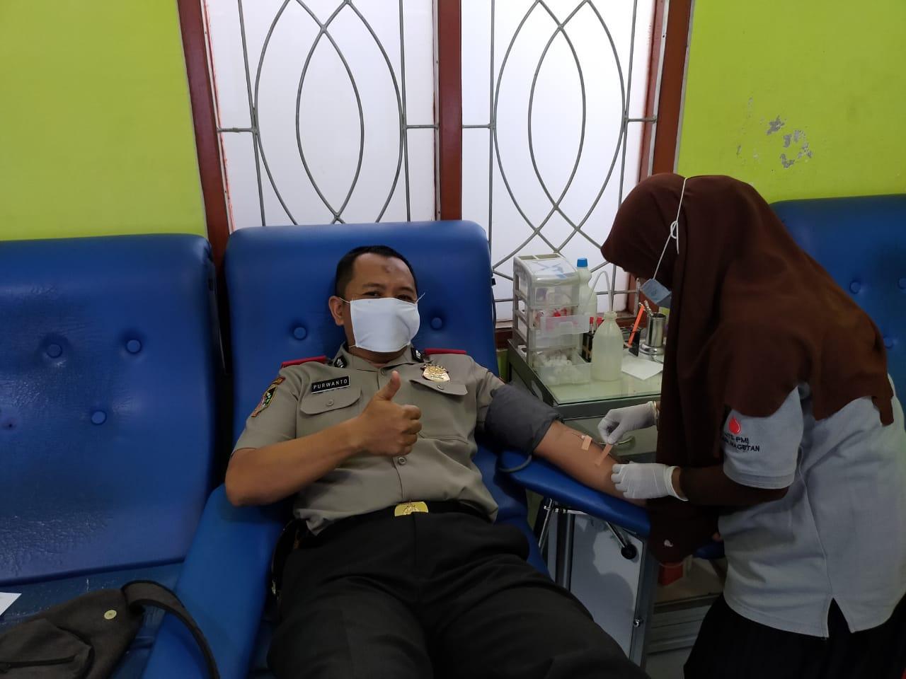 Serdik Purwanto Bantu Stok Darah PMI