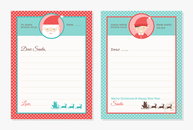 free printable download christmas letters to santa templates