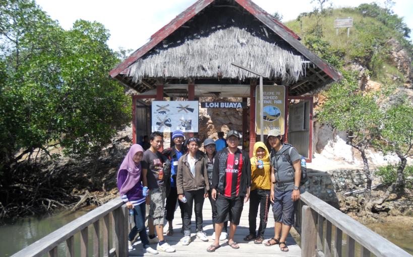 Pintu masuk di Pulau Rinca
