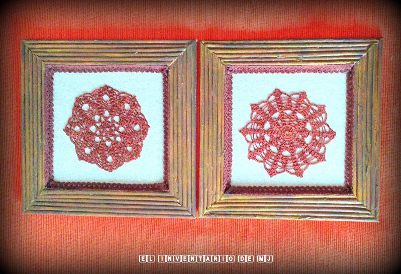 EL INVENTARIO DE MJ: Cuadros de crochet -Papel reciclado y Carton-