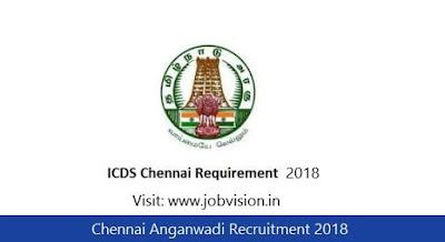 Chennai Anganwadi Recruitment 2018