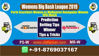 WBBL 2019 MR-W vs PS-W 16th Match Prediction Today Womens Big Bash League 2019