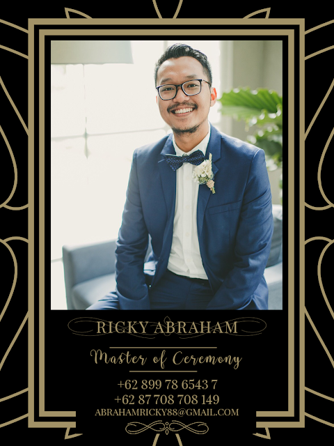 Ricky Abraham the Master of Ceremony