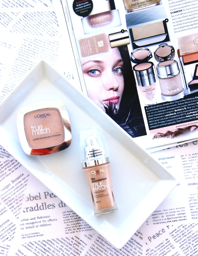 Best summer foundations.Najbolji tecni puderi za leto.Best drugstore foundations.L'Oreal True match foundation & powder D5-W5 golden sand sable dore.