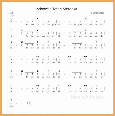 not angka lagu indonesia tetap merdeka