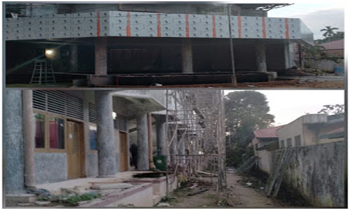 Waduh!!! Proyek Rehabilitasi Gor M.Yamin Molor Dari Sesuai Dokumen Kontrak