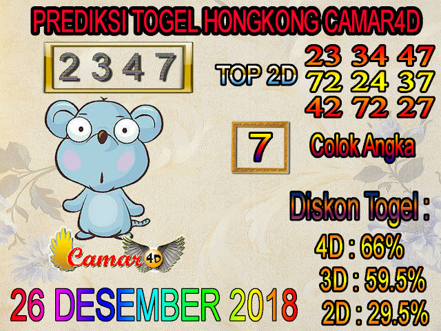 Prediksi Togel Hongkong 26 Desember 2018