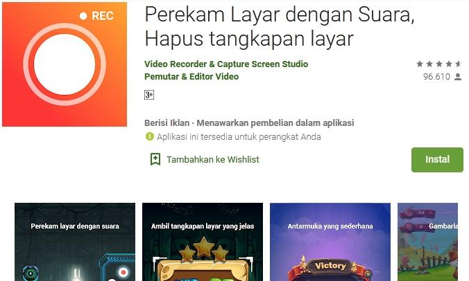 aplikasi perekam layar terbaik android