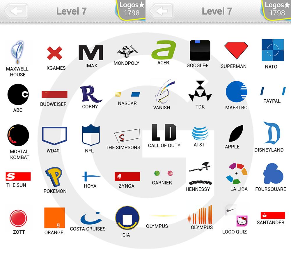 logo quiz answer level 1. Type Logos Logo Quiz Expert Level 7
