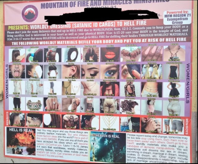Mountain Of Fire Shows Satanic Dressing And ID Card To Hell Fire (Photos)