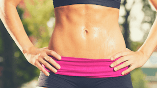 Lose belly fat while playing sports