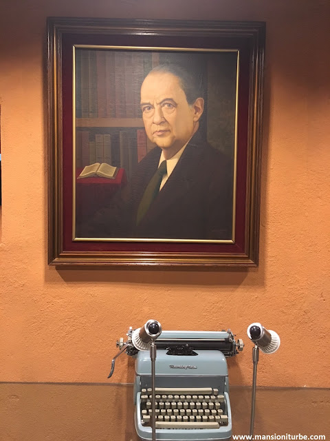 Antonio Arriaga Ochoa, a painting at the Library at the Michoacan Regional Museum