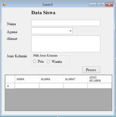 Entry Data Ke Datagridview