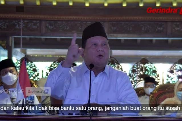 Prabowo ke Kader: Kita Belum Bisa Berkuasa Mutlak, Jangan Turunkan Semangat