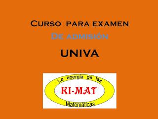 "Imagen con letrero ""Curso para examen de admision UNIVA"""