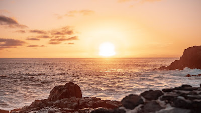 Rocks, Sunset, Sea, Coast, Waves, Landscape