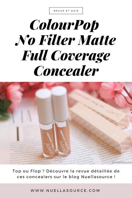 colourpop no filter matte full coverage concealer dark 42 dark 46 revue avis