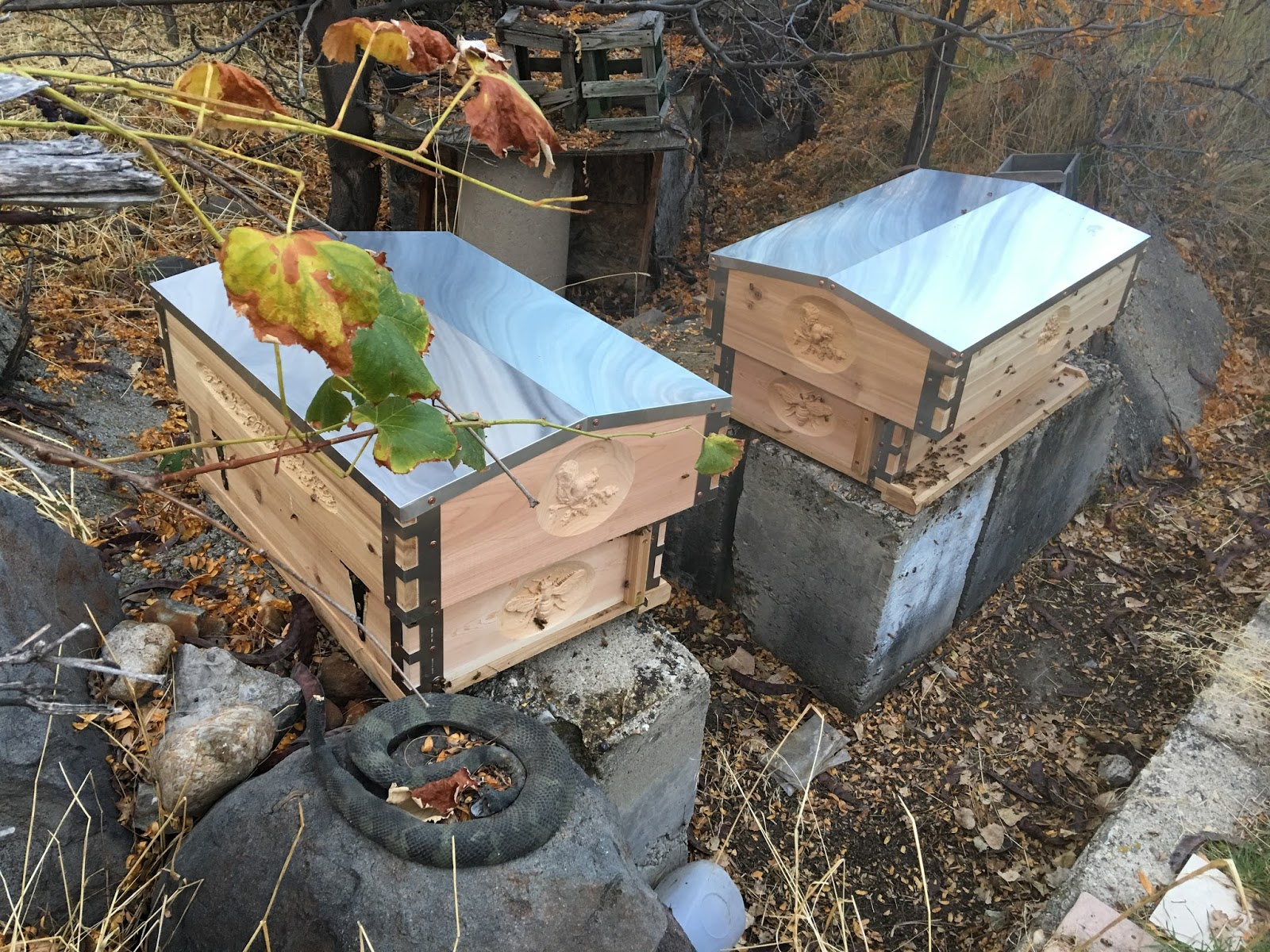 amazing beehive ready for christmas by albert chubak eco bee
