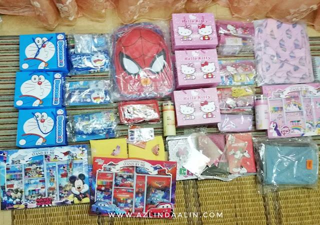 Shopping di SgShop, beli apa di SGShop sempena 11.11, alat tulis murah di SGShop, borong barang dari China, barangan China