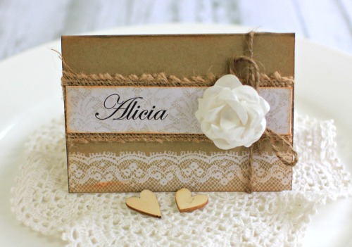 Kaisercraft Always and Forever Wedding Place Card by Alicia McNamara
