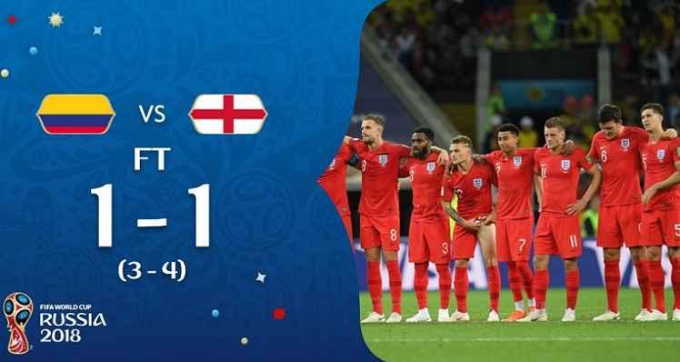 Hasil Kolombia vs Inggris Skor Akhir (3) 1-1 (4)   Babak 16 Besar World Cup 2018