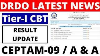 DRDO Ceptam 09 A & A Result 2020