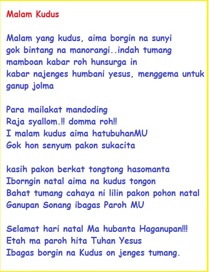 Puisi Natal Anak Sekolah Minggu : puisi, natal, sekolah, minggu, Puisi, Natal, Bahasa, Batak, Simalungun, BangPurba.com