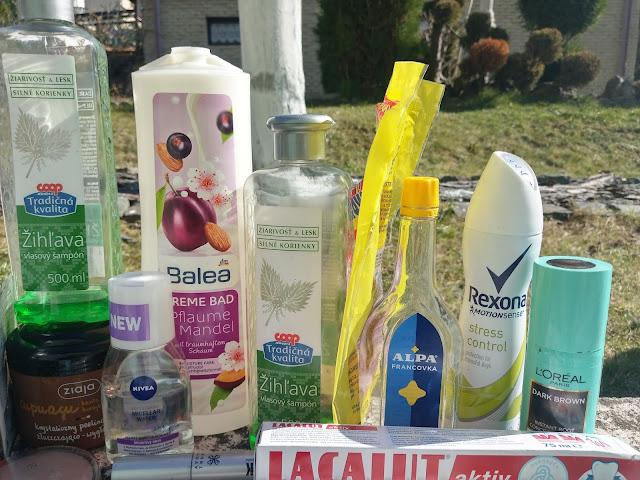 Máj - spotrebované produkty