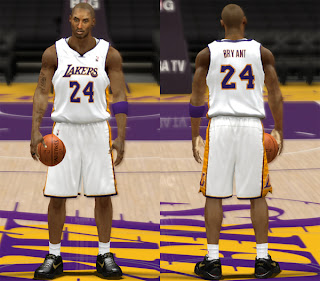 NBA 2K13 LA Lakers Alternate Jersey Patch
