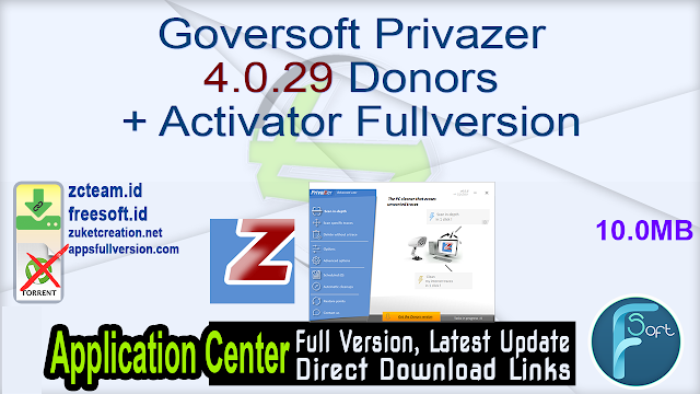 Goversoft Privazer 4.0.29 Donors + Activator Fullversion
