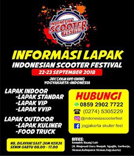 Ayo Buruan Daftar Lapak Indonesian Scooter Festival