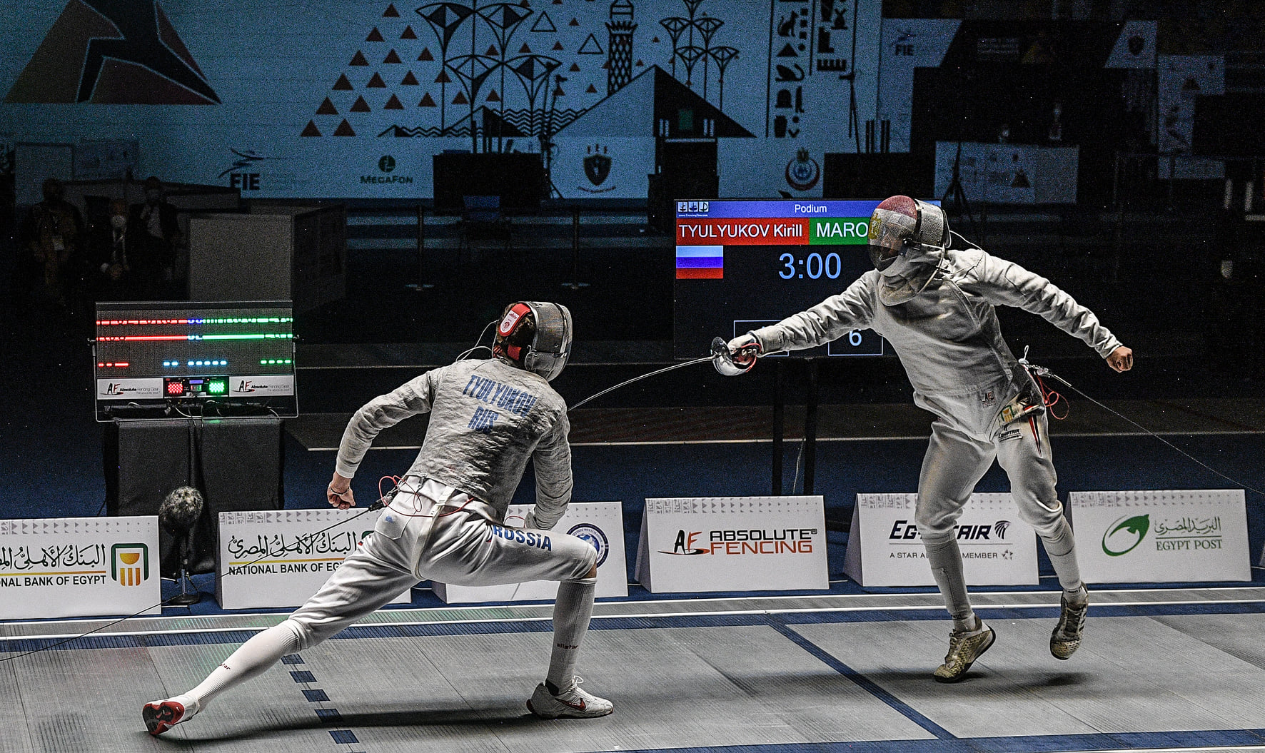 Na Esgrima, Egito e Rússia disputam mundial juvenil de sabre
