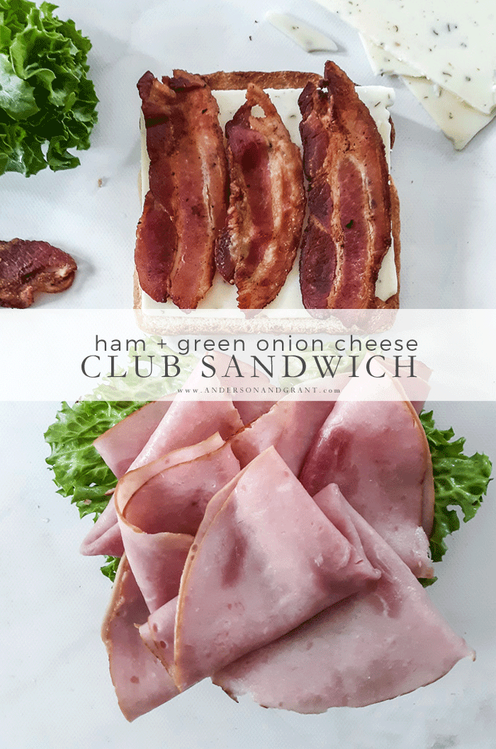 How to make a Ham and Green Onion Cheese Club
