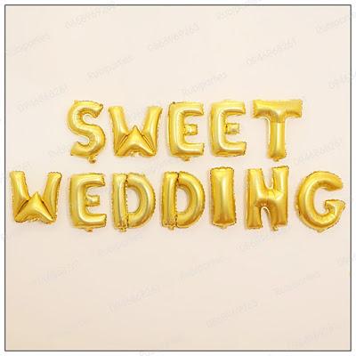 bong chu sweet wedding mau vang