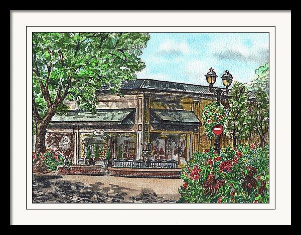 Downtown Camas State Of Washington Watercolor illustration by Irina Sztukowski
