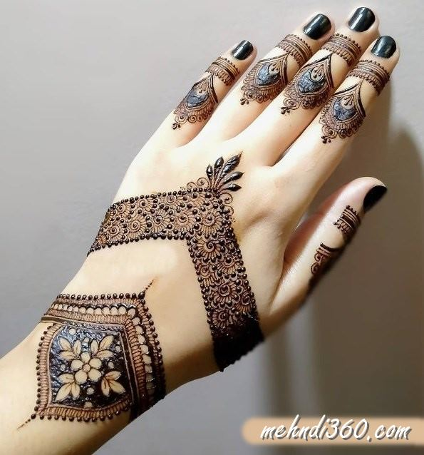 Office Style Mehndi Designs Back hand