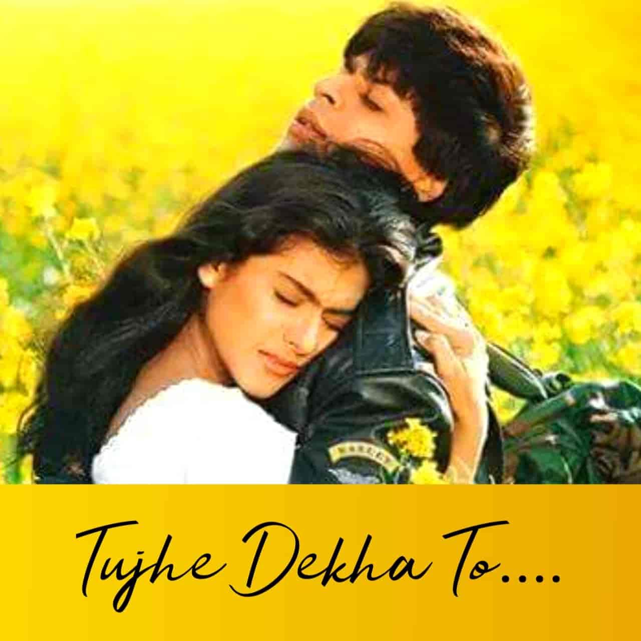 Tujhe Dekha To Hindi Romantic Song Lyrics, Sung By Kumar Sanu.