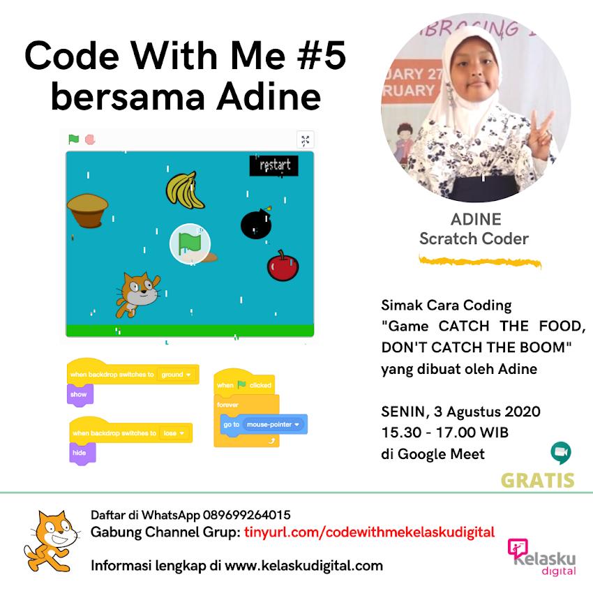 Code With Me #5 Bersama Adine