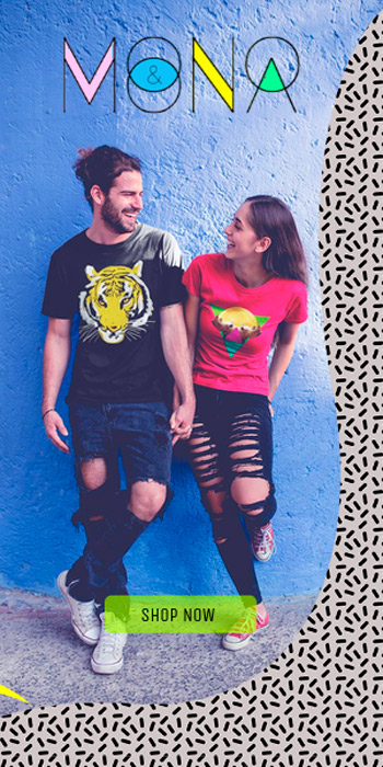 camiseta mono y mona