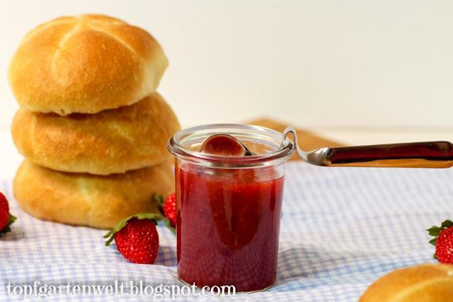 Erdbeer Marmelade | gefrorene Beeren - Foodblog Topfgartenwelt