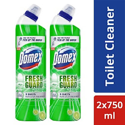 Domex Fresh Guard Lime Fresh Disinfectant Toilet Cleaner (750 ml X 2)